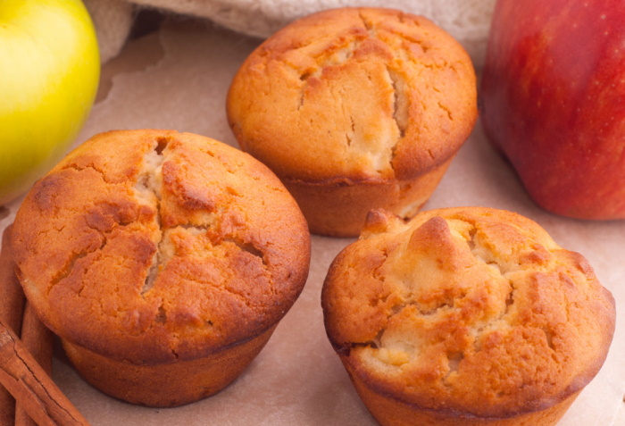 Healthy apple muffins, one of our healthy snack recipes.