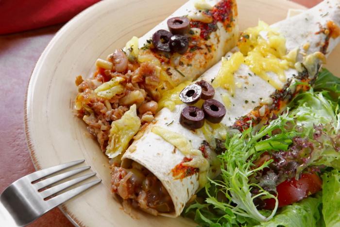 Vegetarian bean burritos