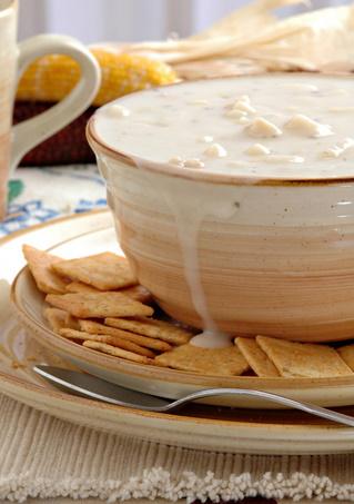 Creamy clam chowder image