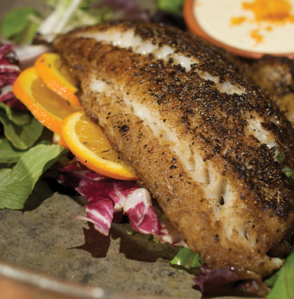 grouper with orange remoulade