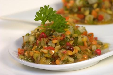 lentil salad, an easy healthy recipe