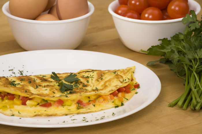 Cheese and vegetable omelet