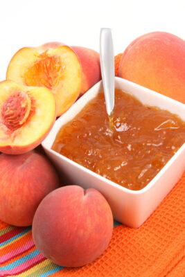 peach marmalade with orange