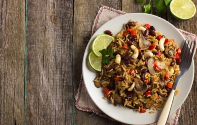 Asian flavored rice salad recipe