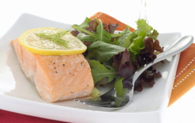 Poached salmon fillet recipe
