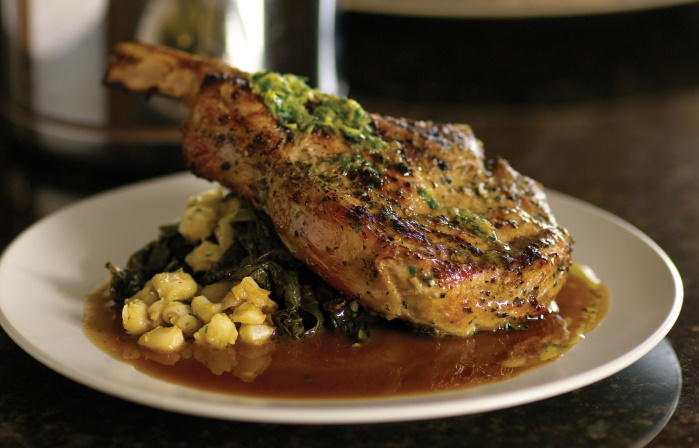 veal chop instant pot recipe Veal Chops with Braised Cavalo Nero, Lemon, & Olive Oil