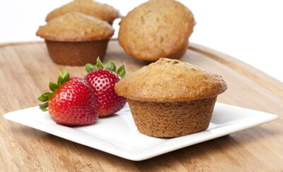Healthy wheat germ muffins