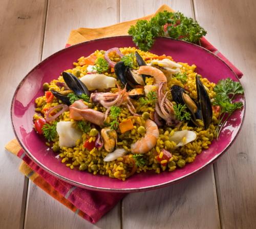 Spanish paella recipe.