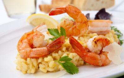 Seafood risotto recipe