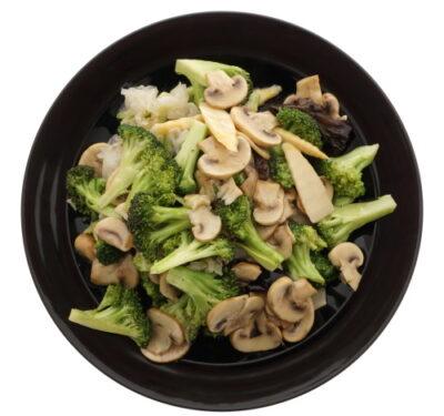 stir fried broccoli and mushrooms