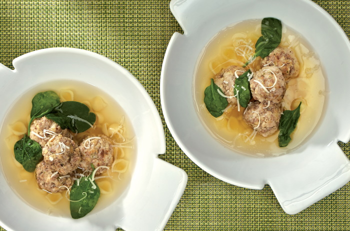 Nona's mini meatball soup