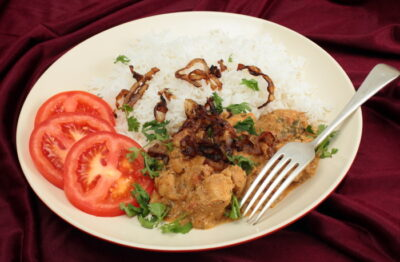 Thai curried coconut chicken