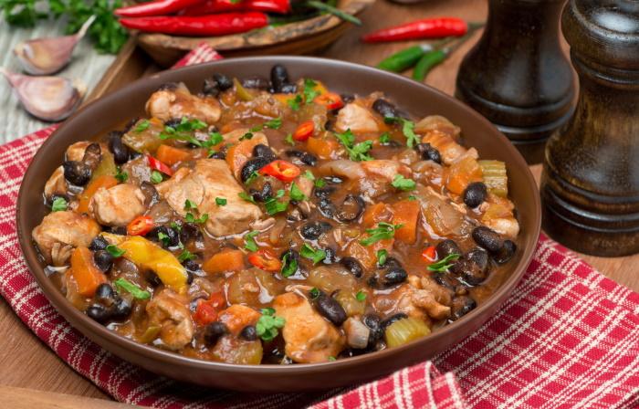 Hot spicy turkey chili