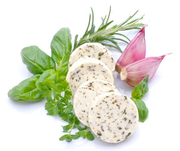 Compound butter with mixed herbs.