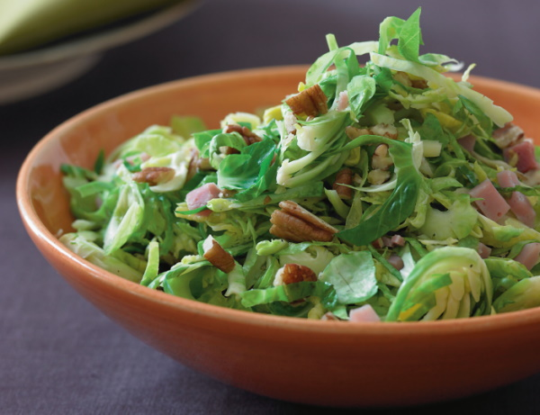 Brussel sprouts with toasted pecans.