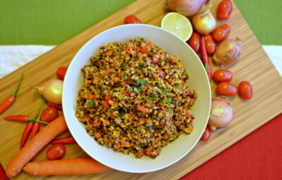 Mexican quinoa with vegetables
