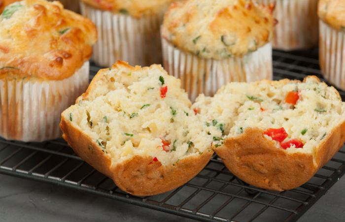 Cheese and spinach muffins