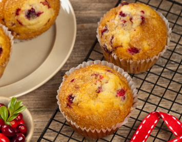 cranberry muffins image
