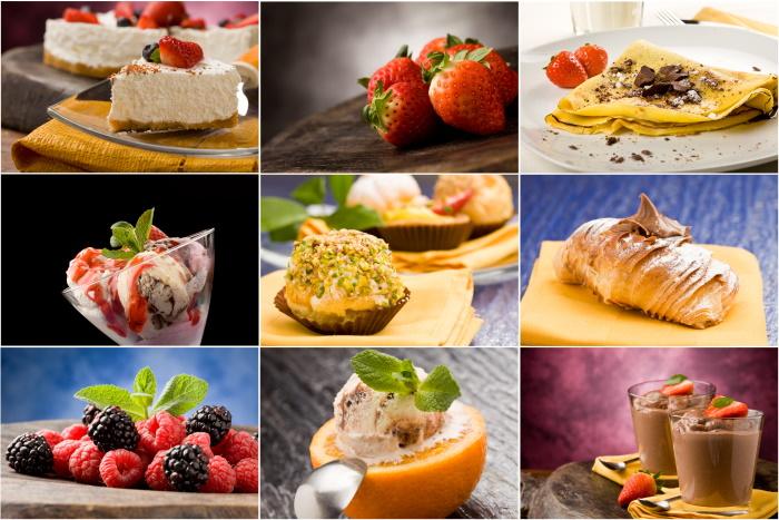 dessert recipes collage