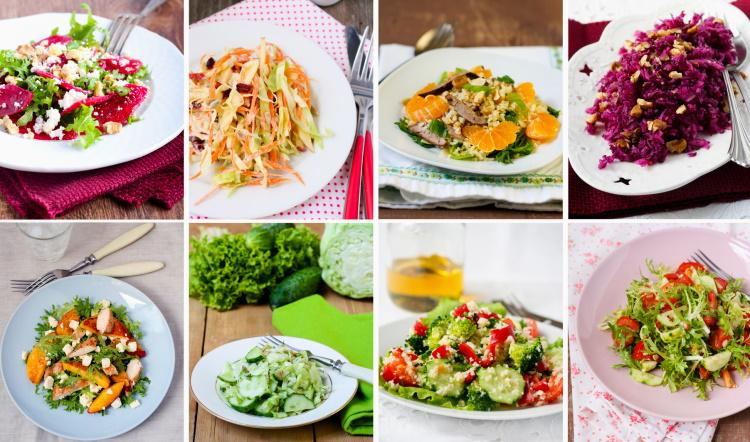 salad recipes collage