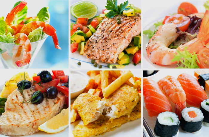 Seafood, fish and salmon recipes
