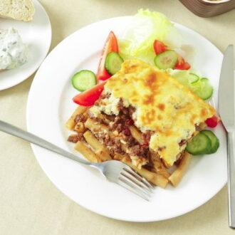 Pastitsio - a Greek ground beef casserole