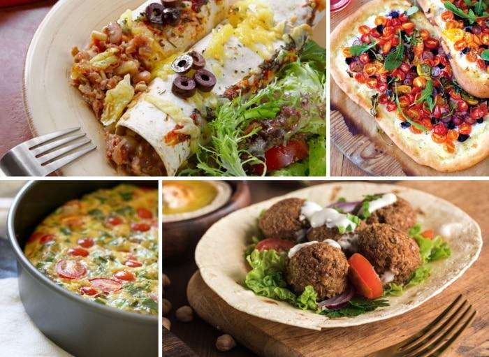 A variety of vegetarian menus