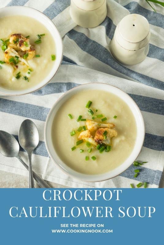 Crockpot Cauliflower Soup for Pinterest