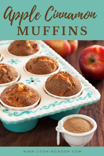 apple cinnamon muffins pinterest image