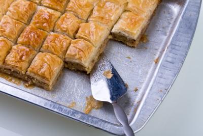baklava in pan
