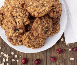 Gluten free banana oatmeal cookies