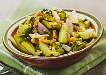 Brussel sprouts with pecan butter