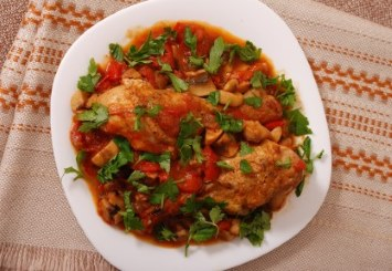 Crockpot Chicken Cacciatore