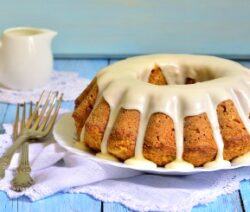 healthy carrot cake with bran