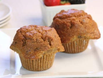 Healthy Carrot Muffins with Pineapple