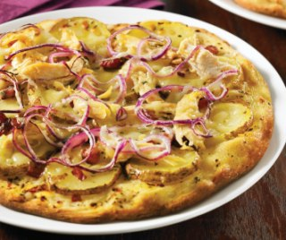 chicken pizza on bread machine pizza dough