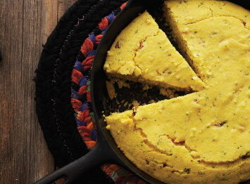 Cornbread with peppers