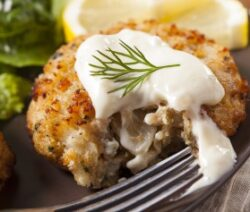 Savory crab fritters
