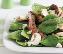 Spinach Salad with Creamy Yogurt Dressing