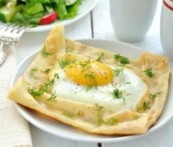 Egg Cups in Crepes
