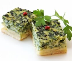 Spinach and egg squares