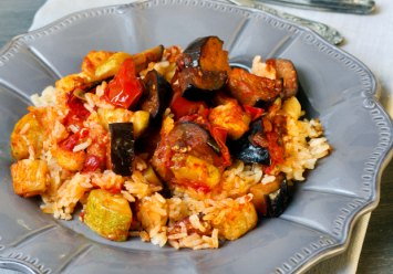 Peppers, Tomatoes and Eggplant Recipe
