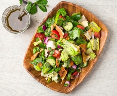 large image of fattoush salad.