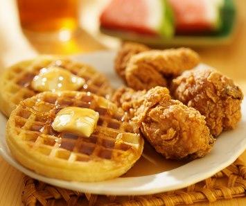 chicken and waffle food mashup