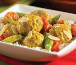 Ground Turkey Meatball Korma