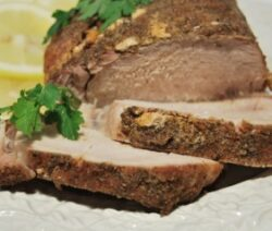 Pork Roast with Lemon and Garlic