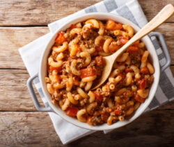 Classic macaroni and beef