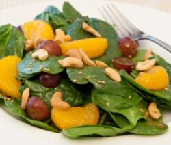 Mandarin Almond Spinach Salad