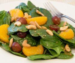 Mandarin Almond Spinach Salad