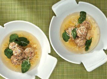 Nonna's Mini Meatball Soup Recipe